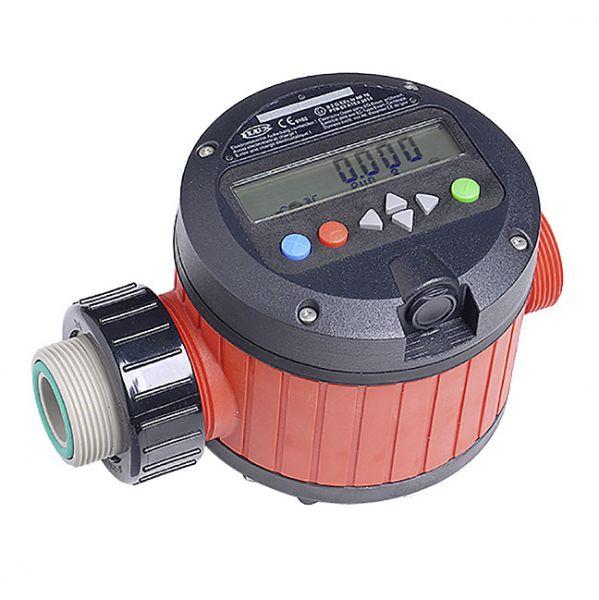 Taumelscheibenzähler FMC 100 mit Auswertelektronik FLUXTRONIC aus Polypropylen