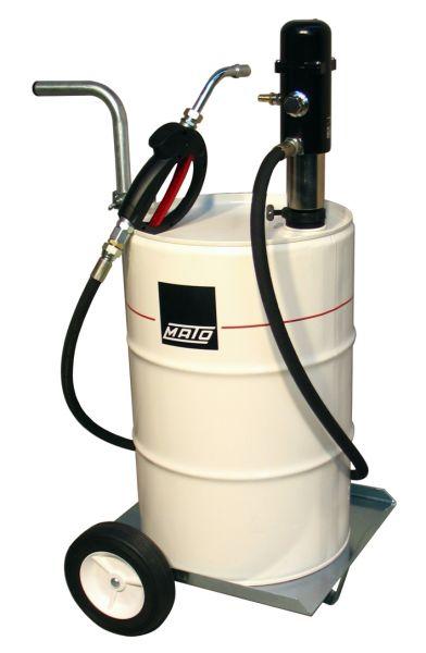 MATO pneuMATO-Ölförderpumpe, fahrbar für 50/60 Liter Ölfässer
