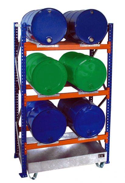 Anbauregal 3003 Fassregal mit Auffangwanne verzinkt BAUER