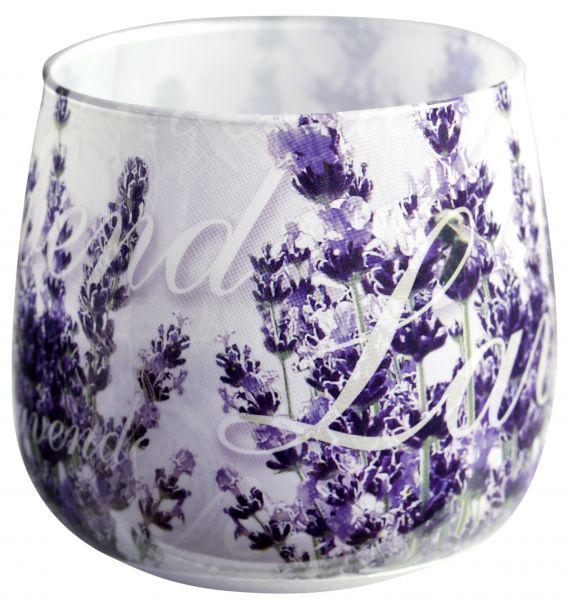 Duftglas Duftkerze mit Motiv Lavender Basket Duft Lavendel