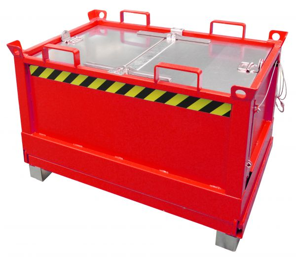 Klappbodenbehälter FB 0,5 m bis 2 m³ für Gabelstabler