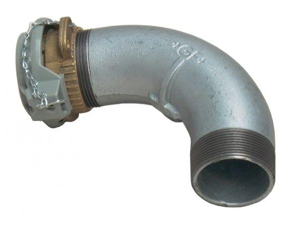 """MATO Tank und Einfüllarmatur (Tankwagenkupplung mit Verschlussdeckel inkl. 90° Bogen) R2"""""""