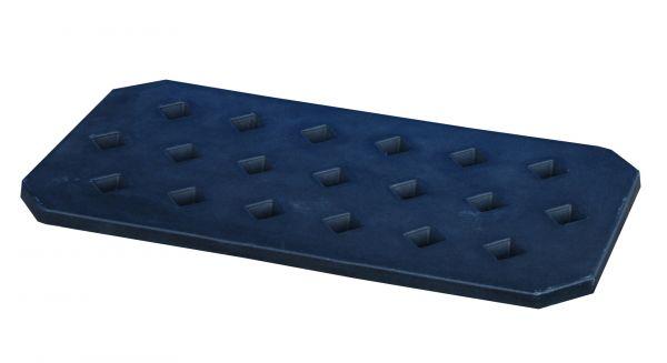 Lochrost LR-PE 30, aus robustem Polyethylen, Ausführung in schwarz