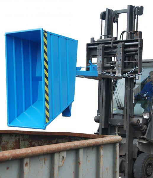 Kippbehälter VD mit innovativem Hebel-Verschluss für Gabelstabler
