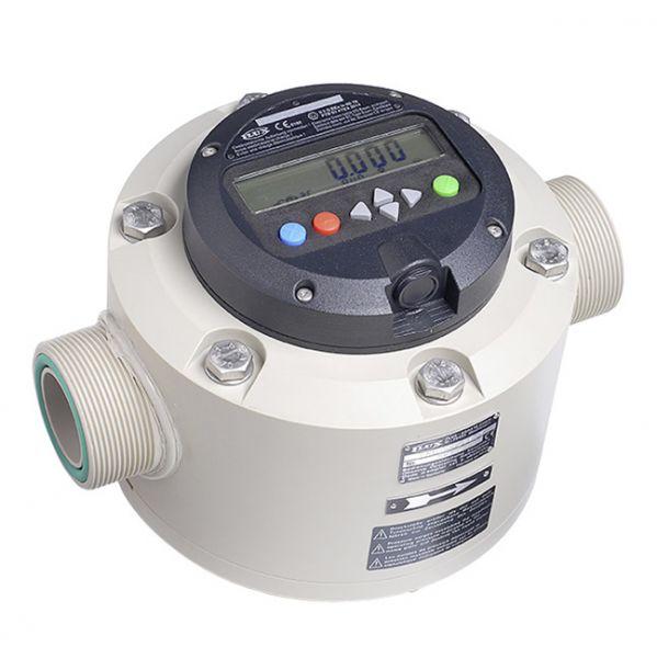 Taumelscheibenzähler FMC 250 für den stationären Einsatz im Anlagenbau mit Ausewertelektronik FLUXTR