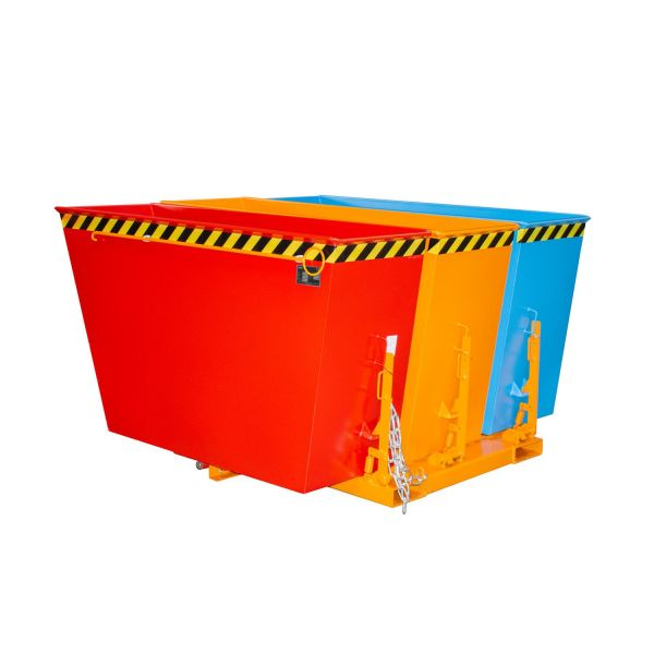 Kippbehälter TRIO 3 x 0,6 m³ Behälter mit 3 Kammern für Gabelstabler