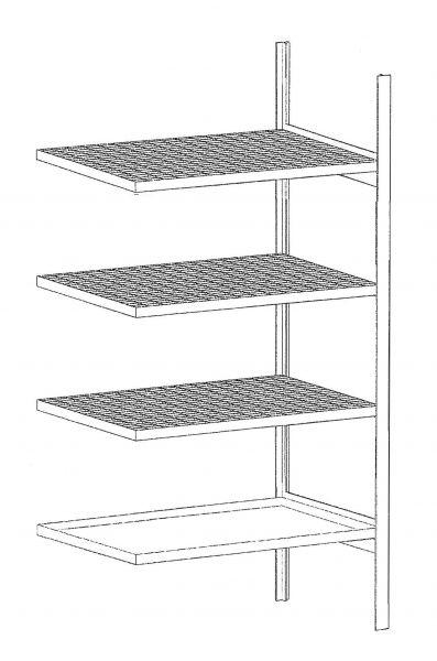Kleingebinderegal mit Auffangwanne 3018-4E, verzinkt BAUER