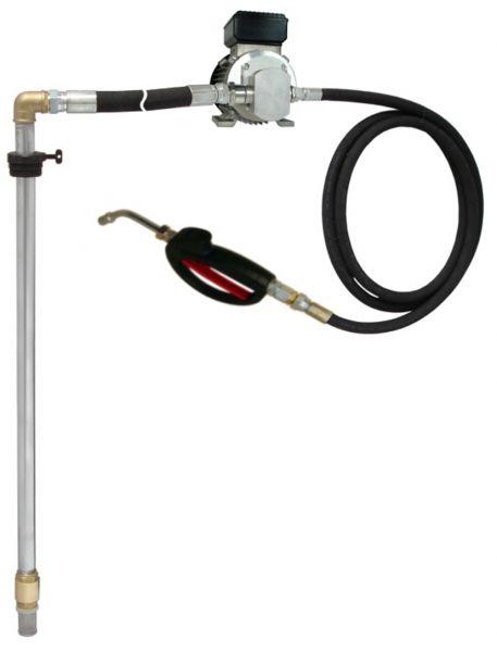 MATO Elektro-Zahnrad-Pumpensstem EP 100 für 200 Liter Ölfässer mit 40 Druckschlauch mit Ölpistole