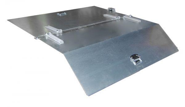 2-teiliger, verzinkter Deckel für Typ GU 750/SGU 75 BAUER
