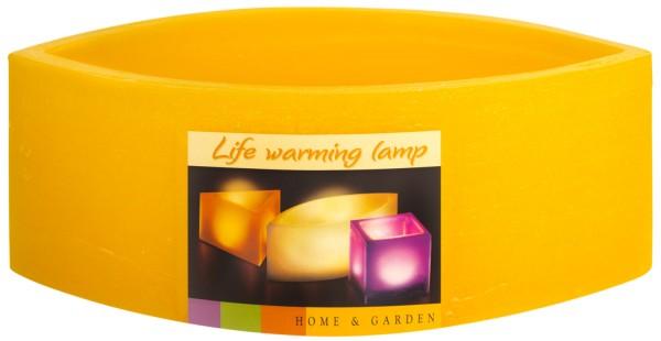 Teelichthalter Wachslampion Tropfenform -gelb-
