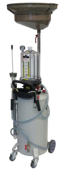 Kombiniertes Altölauffang- und Absauggerät mit Schauglas und Druckentleerung