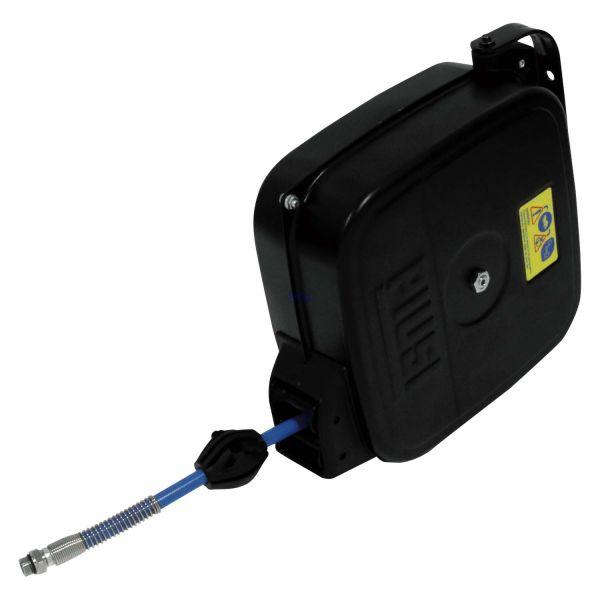 PIUSI Verkleideter Schlauchaufroller 20 bar mit 15 m Luft-/Wasserschlauch 8x12