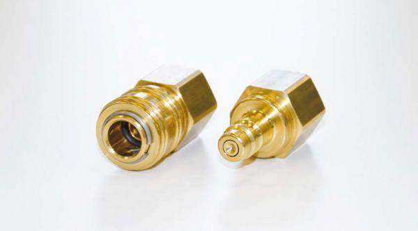 """Kupplungssatz 1/2"""" Rectus, bestehend aus je 1 St. Kupplungsmuffe und Kupplungsstecker, kompatibel mi"""