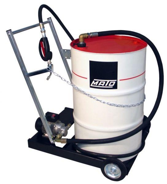MATO Elektro-Zahnrad-Pumpensystem EP100-F mobil für l Ölfässer mit 4 m Druckschlauch