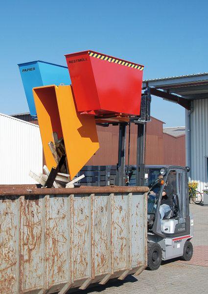 Kippbehälter TRIO Behälter mit 3 Kammern für Gabelstabler