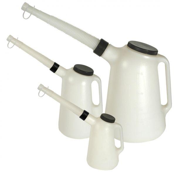 MATO Kunststoff-Flüssigkeitsmaß-Set mit flexiblem Auslauf