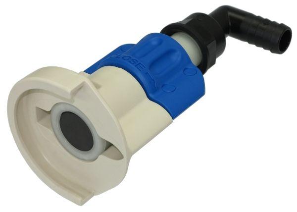 SEC Kupplung mit abgewinkelter Schlauchtülle für AdBlue Fässer und IBC Container