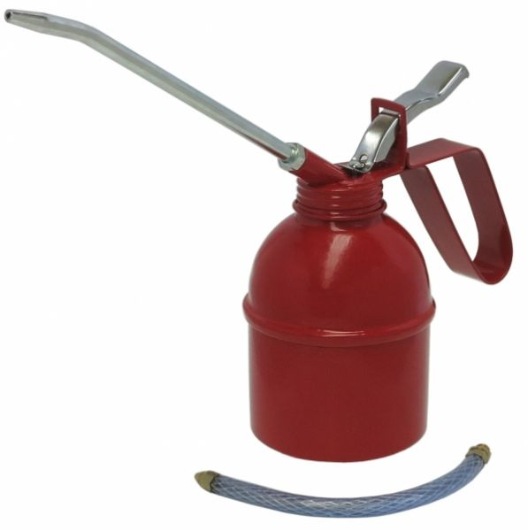 MATO Metallölkanne mit starrem und flexiblem Auslauf und Metallpumpwerk ca. 300 ccm