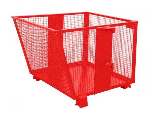 Gitterbehhälter BSK-G 90 0,9 m³ für leichte Güter, Auskippen mit Traverse Stapler