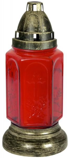 Glas Grablampe mit Einsatz (E1200)