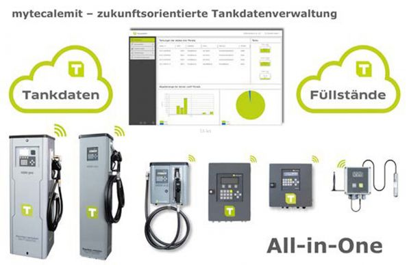 mytecalemit - cloud - Reporting- und Servicemodul Tankstelle