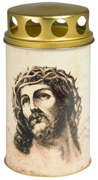 """Grablicht - Grabkerze - Motivkerze - Ökolicht """"Vintage-Jesus"""""""