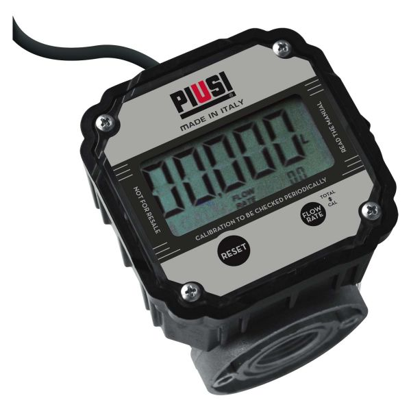 """PIUSI Zähler K600 B/3 3/4"""" für Öl mit Impulsausgang bis zu 60l/min"""