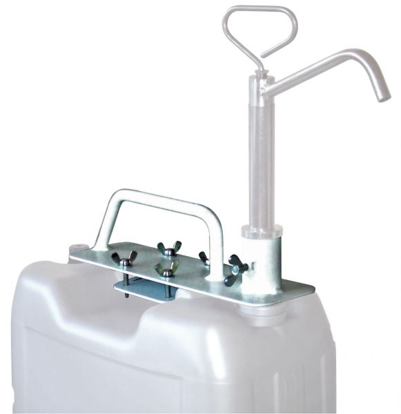 Pumpenhalter für Kunststoffkanister