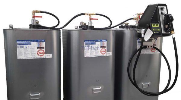 3000l Hoftankstelle - Dieseltankanlage mit Pumpe und Zählwerk
